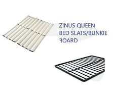 ZINUS ADRIANNE WOOD BED SLATS & GULZAR STEEL BUNKIE BOARD FOR QUEEN BEDS