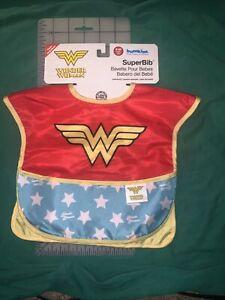 DC Comics Wonder Woman SUPERBib Bumkins Bib Cape 6-24 Months Waterproof Caped