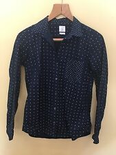 Ladies Navy With White Polka Dots Shirt Size S GAP <M1386