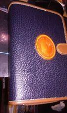 Vtg. Dooney & Bourke Leather Planner Organizer NotePad 7.5x5 ~ Snap Black/ Brown