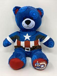 BUILD A BEAR Workshop AVENGERS Captain America Teddy Plush Stuffed Animal 2014