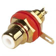 Hicon HI-CEF01-RED RCA/Cinch-Einbaubuchse vergoldet rot PTFE-Isoliert