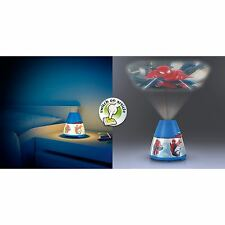 Philips Marvel Spiderman infantil Led Lámpara Mesilla Proyector Portátil Batería