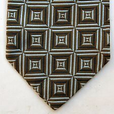 Dolce & Gabbana D&G Silk Made in Italy Geometric Squares Design Green/Sky Blue