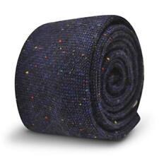 Frederick Thomas navy/dark royal blue wool tie with multicolour specks