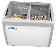 - Mcf-12C Commercial Ice Cream Freezer Display Case, Glass Top 12.7 cu.ft