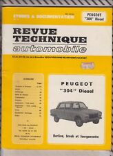 VINTAGE Revue technique automobile 1980 PEUGEOT 304 DIESEL