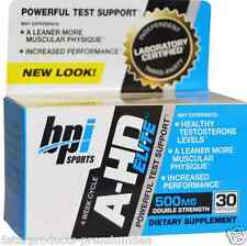 NEW BPI SPORTS A-HD ELITE TESTOSTERONE BOOSTER 500MG AHD MEN CAPS-30 Capsules