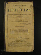 Lecture Courante - M.Guyau - 1883