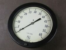 Vintage Ashcroft 10dia With 8 Face Gage 0 60 Industrial Gauge