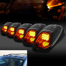 5Pcs Truck/SUV Smoked Lens Roof Top Full Amber LED Running Parking Cab Lights G