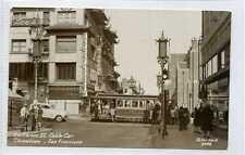 (Gv605-438) Real Photo of China Town Cable Car, SAN FRANCISCO c1950 EX
