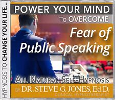 DR.STEVE G. JONES Clinical Hypnotherapist Fear of Public Speaking  HYPNOSIS CD