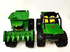 John Deere Toy Gater and Combine Plastic Sound Works Monster Wheels Deer 2 legs