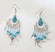 Markenloser Mode-Ohrschmuck im Hänger-Stil mit Türkis-Hauptstein für Damen