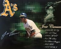 Jose Canseco Oakland Athletics A's Signed Autographed 8x10 Photo Gdst Holo F