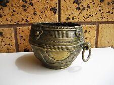 Rare Antique Handmade Brass Ceremonial Medicine Persian Altar Bowl