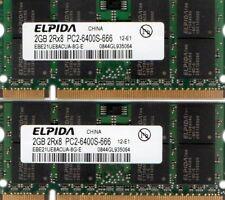 4GB 2x 2GB Dell Inspiron 1501 1520 1525ee 1526ee 1545 1546 1720 1721 1750 Memory