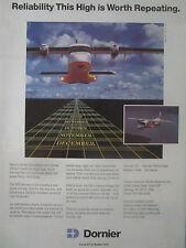 5/1989 PUB DORNIER 228 REGIONAL AIRLINER AVION AIRCRAFT FLUGZEUG AVION AD