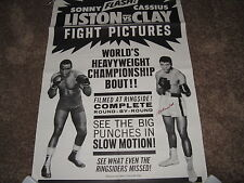 Muhammad Ali Signed Original 1964 Boxing Poster Photo Number 64/6601 PSA RARE