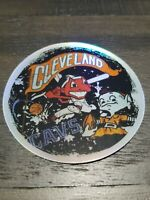 Cleveland ALL IN ONE Holographic STICKER Browns Indians Cavs Chief Wahoo Brownie