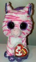 """Ty Beanie Boos - ZAZZY the Zebra 6"""" (Claire's Exclusive) NEW MINT with MINT TAGS"""