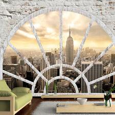 FENSTERBLICK NEW YORK STADT Fototapete Vlies Tapete xxl Wandtapete d-A-0043-a-b