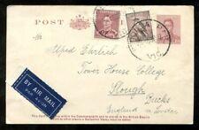 2520 - AUSTRALIA 1939 Airmail Uprated Postal Card to England. Kookaburra