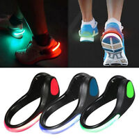 SAFETY FLASHING LED LIGHT UP ARM BAND + SHOE CLIP HIKING RUNNING BIKE CYCLING