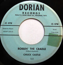 CHUCK CASTLE obscure pop vocal 45 Robbin' The Cradle / The Night Is Right  F3038