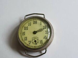 Vintage 1920-1930 Gents Swiss Watch,wired lugs,not working,spares and repairs.