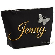 PERSONALISED ACCESSORY BAG  WITH YOUR NAME/ MEDIUM MAKE UP BAG/ GLITTER/ PRESENT