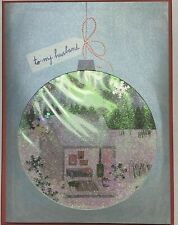 """Papyrus bird & Quill Christmas Card -to my Husband """"Let's Get Snowed In"""" 3D snow"""