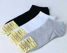 10 Pairs Men's Sport Crew Ankle Low Cut Casual 100% Cotton Socks Comfortable 7-9
