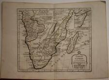 SOUTH AFRICA MADAGASCAR 1806 VAUGONDY & DELAMARCHE ANTIQUE COPPER ENGRAVED MAP