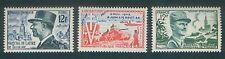 Timbre France -1954 - 3 valeurs N° 982 - 983 - 984 - Neufs -