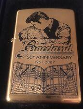 Brass Zippo Graceland 50th Anniversary Elvis ltd. ed. # 2576 / 5000  SEALED
