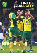 Norwich City V Everton 2013/14 programa Mint