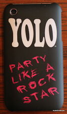 iPhone 3 YOLO case cover skin PARTY LIKE A ROCK STAR phone Black white pink