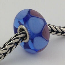 Authentic Trollbeads Ooak Murano Glass Unique Bead Charm #218, 14mm Diameter New