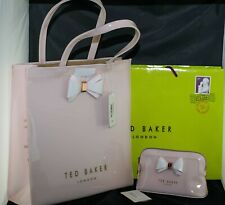 NWT Ted Baker London Large Bow Icon Tote Shopper and cosmetic makeup bags set