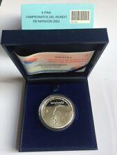 Spanje 10 euro 2003 Proof PP in cassette: X Fina / WK Zwemmen