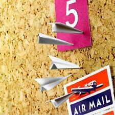 6pcs Novelty Mini Plane Pushpin Home Office Drawing Pin Thumbtack Cool Gifts LA