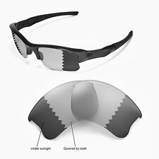 Fit&See Polarized Photochromic Grey Replacement Lens for Oakley Flak Jacket XLJ