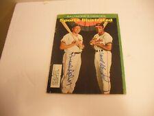 brooks robinson, frank robinson signed 1966 sports illustrated JSA