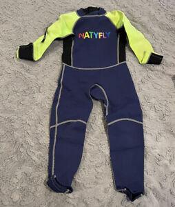 Natyfly Neoprene Wetsuit Size Youth M Green / Navy