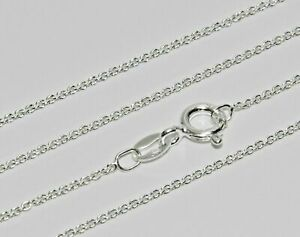 Sterling Silver 925 Pendant Chain - 18 inch - Strong & Durable