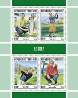 Togo - 2019 Professional Golfers - 4 Stamp Sheet - TG190144a
