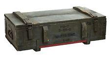 alte Munitionskiste AD81 Aufbewahrungskiste Militärkiste Munitionsbox Holzkiste