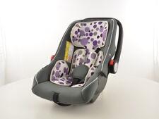 Kinderautositz Babyschale Autositz schwarz/weiß/lila Gruppe 0+, 0-13 kg - Farbe: